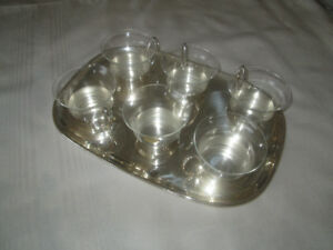 7 piece silver tea set