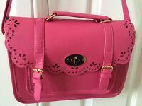 Hot pink ladies shoulder bag