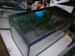 3 aquarium's and accessories
