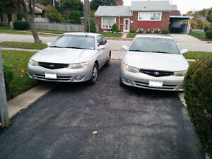 2 for 1 Toyota Solara`s Coupe (2 door)