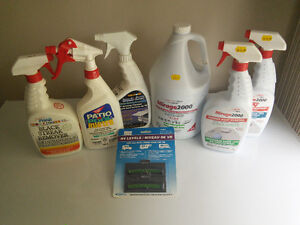 Various RV chemicals awning rubber roof clean treatment level