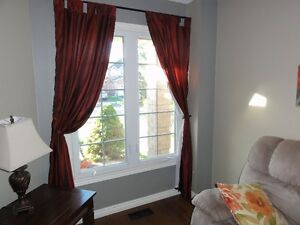 Curtains and Curtain Rods for 2 windows