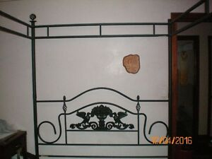 Queen Size Steel post and canopy bed