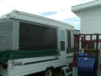 Bonair 12' Tent Trailer with Tip Out