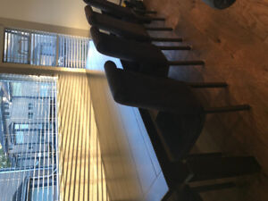 Dining room / kitchen table and chairs seats 10-12 from Liberty