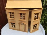 Dolls House - ideal project/needs painting - Fab Xmas Present