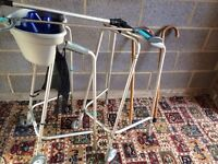 B Mobility Aids For Sale, 2 x Walking Frames, 2 x Wooden Walking Sticks, 2 x Grabbers