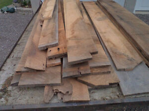 White oak lumber 160  boardfeet,   8 ft long,  8-15 inches wide