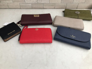 Wallets: Kate Spade; Michael Kors; Tory Burch; Fossil & Danier