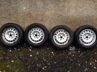 "VW Caddy 15"" Steel Rims 5x112 - Will fit Seat Audi Skoda not Alloys A4 Golf winter rims"