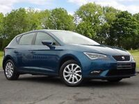 SEAT Leon 1.6 TDI SE (Tech Pack) 5dr (start/stop) (blue) 2013