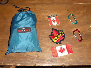Large backpack rain cover & patches & clips