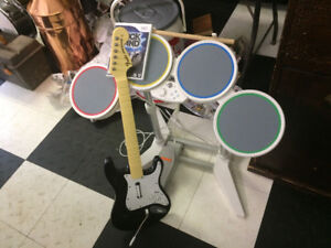 Wii Rockband Complete Setup with Games Mario Etc