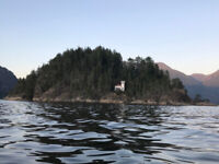 Private island and fishing cabin ultimate vacation rental in BC