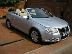 Volkswagen EOS 2.0 TDi 2008 Convertible+ Pan Roof Full Leather 6 Month Guarantee