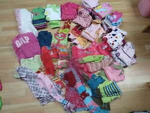 Lot of 52 piece of girl's 24 mnth clothing - Excellent condition
