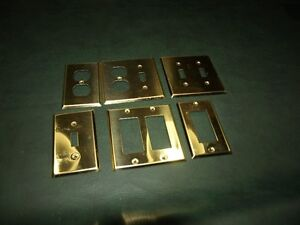Brass Electrical Plate Covers (Variety)
