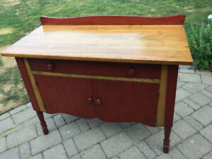 Side Table~Antique Table~Wooden Table with Drawers