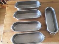 Stainless steel hot trays x5