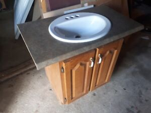 Bath room sink and cabinet