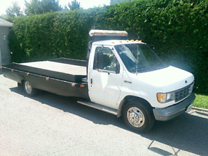 1992 Ford E350 Flat Bed Truck