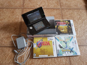 Nintendo 3DS with Games and Charger