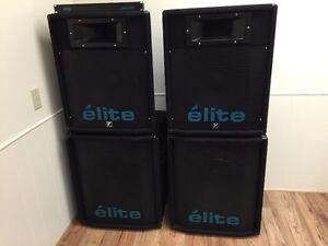 Yorkville Elite Subwoofers and Speakers MINT