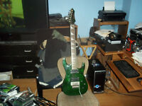 Mint Douglas 7 string with floyd, grovers and gigbag