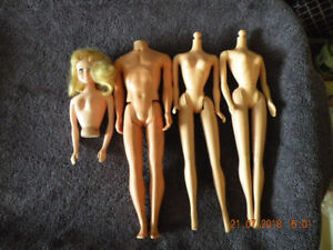 Vintage Barbie doll parts and pieces