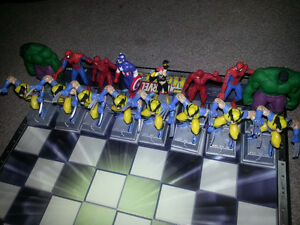 Marvel Heroes Chess Set-VERY RARE. MINT CONDITION ONLY 100$..... London Ontario image 1