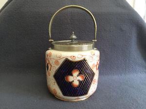 Collectible Antique Antique Porcelain Biscuit Jar