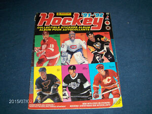 1991-92 PANINI HOCKEY STICKER ALBUM-WAYNE GRETZKY COVER