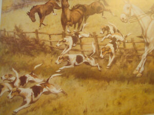 """Fox Hunt Full Cry Through The Homestead,16""""X20"""" George Wright Peterborough Peterborough Area image 4"""