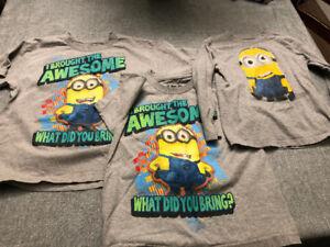 Minions shirts - kids sizes small and medium