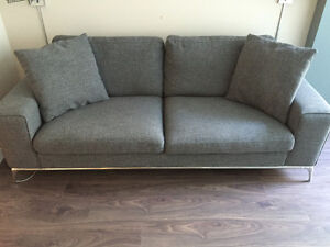 Moder Grey Couch and Ottoman (NEW)
