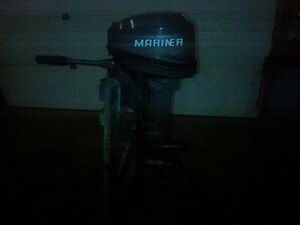 8HP MARINER OUTBOARD  (TWO STROKE SHORT SHAFT )