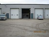 3 LARGE TRUCK BAYS with SHOP and OFFICES, 14' DOORS, SECURE YARD