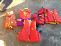 Personal Floatation Vests - Lot of 5