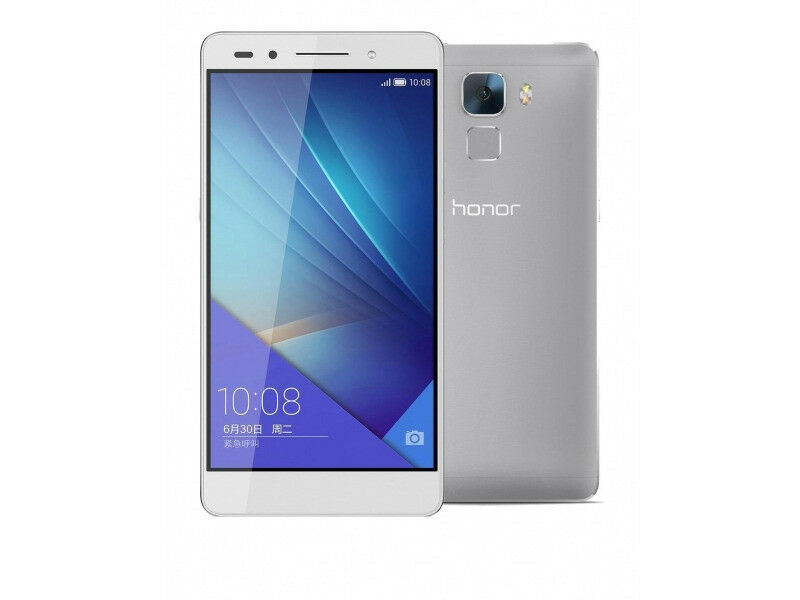 Unlocked Huawei Honor 7 Mobile Phone - Silver/White - Dual Sim