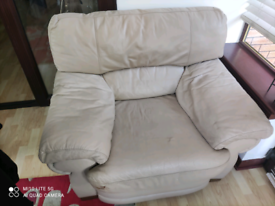 One seater leather sofa free pick up