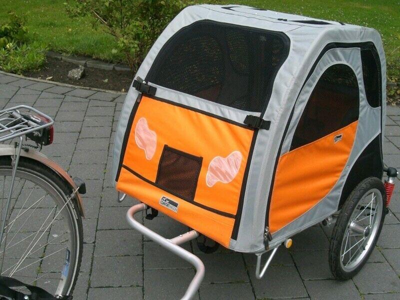 Petego Comfort Wagon L gefederter Aluminium Fahrradanhänger für Hunde