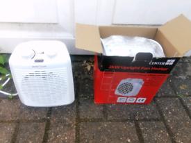 Center CB upright fan heater 2kW