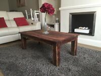Rustic coffee table (furniture/bespoke/shabby chic/farmhouse/living/dining)