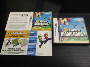 New Super Mario Bros, DS, CIB with manual and inserts.