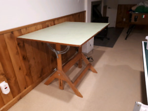 Professional drafting table (solid wood)
