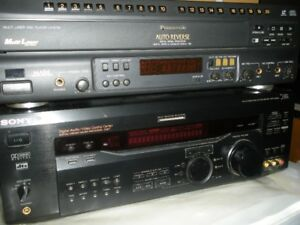 Stereo Receiver Sony and Panasonic Multi Disc Player