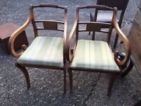 PAIR ANTIQUE ARMCHAIRS FREE DELIVERY BEAUTIFUL MODEL