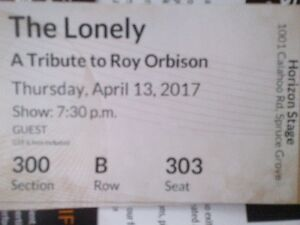 2 Hard Copy Tickets The Lonely Roy Orbison Tribute Horizon Stage
