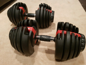 Bowflex 552 Selectech Weight set WITH stand