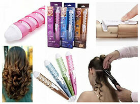 Brand New PRITECH Electric Ceramic Coating Barrel Hair Curler Curling Iron Roller Travel